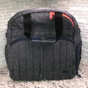 Lug Boxer Overnight Gym duffle Bag Heather Gray